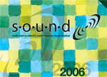 graphic: flyer for the sound festival in 2006