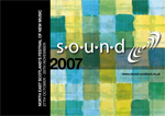 graphic: flyer for the sound festival in 2007