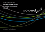 graphic: flyer for the sound festival in 2008