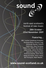 graphic: teaser for the sound festival in 2009