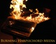 Burning harpsichord.